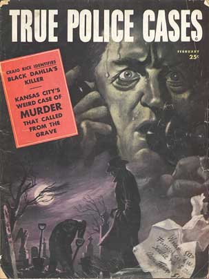 image of True Police magazine with article on Elizabeth Short, the Black Dahlia